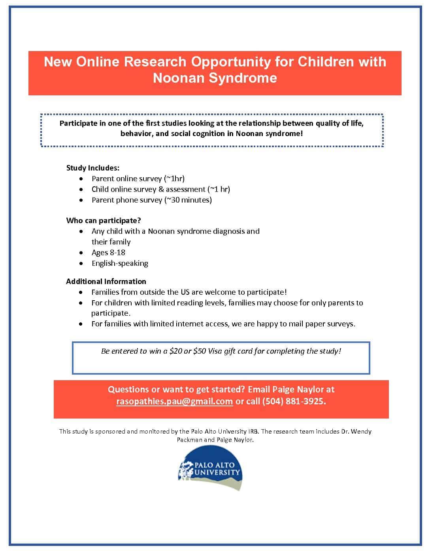 NS Study Flyer_3 15 - The RASopathies Network